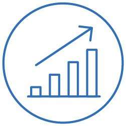 Blue graph icon