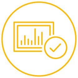 Yellow checkbox icon