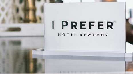 I Prefer loyalty program sign in a hotel
