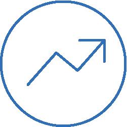 increasing arrow icon