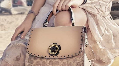 Woman holding a Coach purse