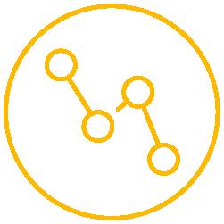 Yellow decrease icon