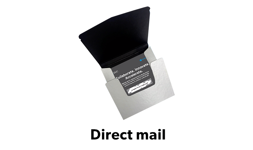 Image of Dell EMC direct mail piece
