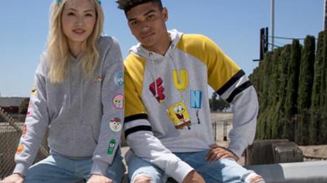 Two teens looking at camera