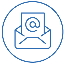 Email opens icon blue