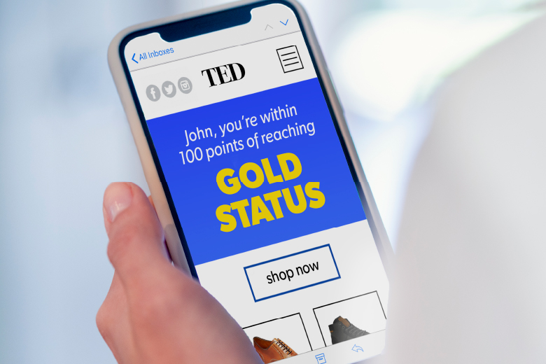 Viewing TED Gold Status on mobile